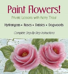 kzie's Decorative Crafts: How To Paint a Rose -2 Actual free lesson!