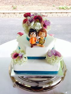 Marcy Peppermint Patty peanuts wedding cake