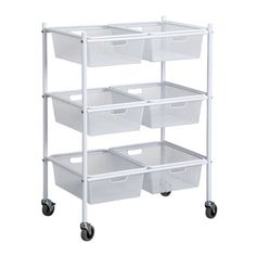 $53.99 Michael's - Keep your crafting supplies organized and at your fingertips with this rolling metal cart. ...