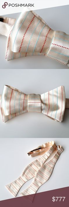 """Elementary Penmanship Bow Tie Elementary Handwriting Paper bow tie. Make a case for proper upper and lower case? Too Cool for School? Hot for Teacher? We present to you, our elementary lined and dashed paper necktie, because you've got the Write Stuff. We dare you not to doodle!   Microfiber. • Bow tie type: """"Real"""" bow tie, freestyle, self tie. (the kind you tie yourself). • Bow tie shape: Thistle. • Printing ink: Non-toxic, waterbased ink. • Size: Adjustable, for approx. 14"""" - 19"""" collar…"""