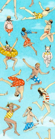 news — elizabeth baddeley illustration People Illustration, Children's Book Illustration, Pool Drawing, Kids Swimming, Illustrations And Posters, Summer Fun, Illustrators, Art For Kids, Character Design