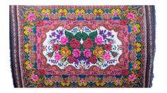 Alfombra Kilim alfombra rosa marroquí overdyed por Rugstory en Etsy