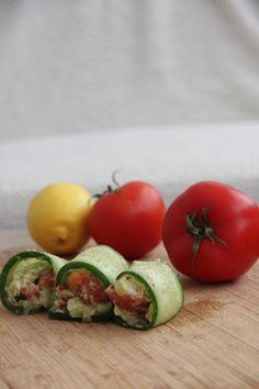 Cucumber Guacamole Rolls #recipe #healthy #snack
