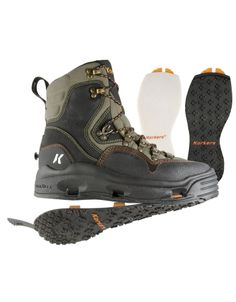 Korkers K-5 Bomber Wading Boots - Felt/Kling-On : Fishwest