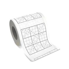 Sudoku Toilet Paper.  When you get to one that totally stumps you, well, you know what to do with it... :)