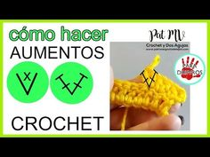 Cómo tejer AUMENTOS a CROCHET  😍 SIMBOLOS DE AUMENTOS  / Clase # 12 Crochet Letters Pattern, Letter Patterns, Projects To Try, Charts, Sewing, Knitting, Blog, Crochet Gratis, Ideas