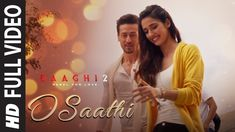 "Presenting the full video of the latest romantic song ""O Saathi"" featuring Ronnie & Neha will take you on a nostalgic trip to your college romance. Baaghi 2 is an action film. Latest Video Songs, Best Video Song, Best Songs, Love Songs, Bollywood Music Videos, Bollywood Movie Songs, New Romantic Songs, Romantic Status, Female Songs"