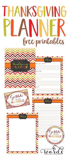 These adorable and free Thanksgiving printables will help you plan everything from your holiday meal and cooking schedule to recipes, decorations, appetizers, desserts, crafts, desserts, and more! You'll stay organized and on top of things so you can actually enjoy Thanksgiving.  #Thanksgiving #Thanksgivingparty #Thanksgivingmeal #mealplanning #mealprep #Thanksgivingdinner