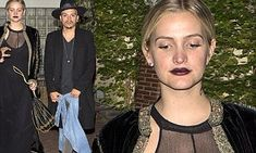 Ashlee Simpson vamps it up on date night with husband Evan Ross | Daily Mail Online