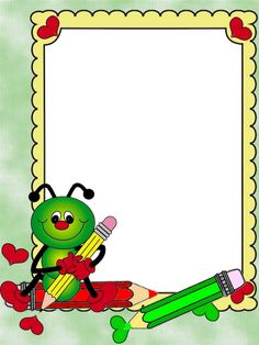 Borders For Paper, Borders And Frames, Imprimibles Paw Patrol, Background For Powerpoint Presentation, School Border, Frame Border Design, School Frame, School Clipart, Cute Frames