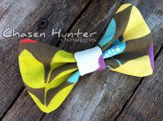 """Bow Tie - """"Summer Bloom"""" - Adjustable Strap. $22.00, via Etsy."""