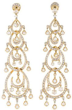 Fine Jewelry Earrings 18K #Diamond Chandelier Earrings