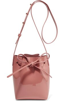 Mansur Gavriel - Mini Mini Patent-leather Bucket Bag - Blush - one size