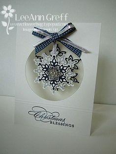 Christmas Blessings card by LeeAnn Greff #christmascard #stampinup #handmadecards #festiveflurry