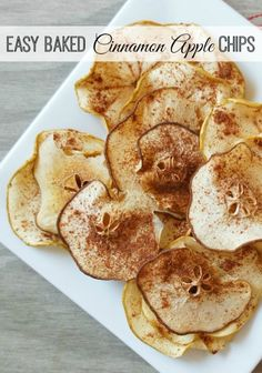 Easy Baked Cinnamon Apple Chips Recipe - The Rebel Chick