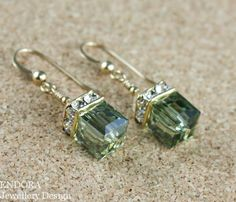 Olive Green crystal earringsOlive green by EndoraJewellery on Etsy, $32.00