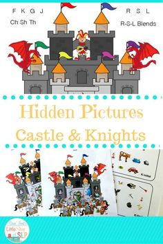 Speech Language Therapy- 26 pages of hidden pictures puzzles for the sounds of : F-K-G-J-L-R-S-CH-SH-TH and the blends for S-R-L. Independent work or homework, too.