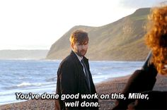 'Broadchurch' first series starring David Tennant as DI Alec Hardy and Olivia Colman as DS Ellie Miller. Tenth Doctor, Doctor Who, David Mcdonald, Scottish Actors, Star David, Broadchurch, Happy Fun, Voice Actor, David Tennant