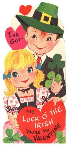 Irish Valentine's Day card.