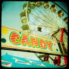 candy and carnival rides