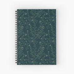 Redbubble | tabletop | storage and organization | stationery | home accents | home decor -  pattern, floral, botanical, surface design, surface pattern, botany, textile, seamless #storageandorganization #stationery #home accents #roomdecor #homeaccessories Notebook Design, My Notebook, Surface Pattern, Surface Design, Transparent Stickers, Sell Your Art, Spiral, Home Accessories, Stationery