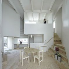 Photo: This small Japanese house may not be much to look at from the outside, but its unusual shape makes for an interesting interior layout. The house is set in Japan's Fukuoka Prefecture, and is composed of two floor levels which provide a total of 69 square meters (742 square feet) of usable space. The house was completed in 2011 and created by the architecture studio, Rhythmdesign, for a young family. Its odd shape is due to the triangular plot of land on which the house is set, which…