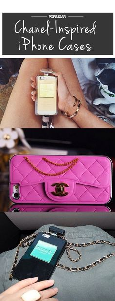 Um, these Chanel-inspired phone cases are amazing