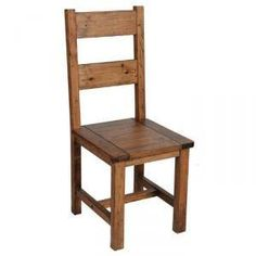 Forge Pine Dining Chair with Faux Leather Seat