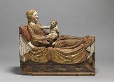 Maria im Wochenbett (Rheinland, Köln, ca. 1340, Germanisches Nationalmuseum, Nürnberg)