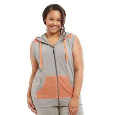 Plus Size Marika Curves Hooded Vest, Women's, Size:
