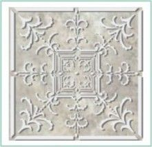 Victorian Ceiling Tile Stencil, I did this in my hallway so easy with drywall mud.  Looks like real tiles.