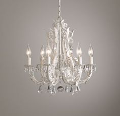 Round crystal chandelier chandeliers crystals and rounding rh baby childs palais small chandelier rustic whitewith a mix of scrolling aloadofball Gallery