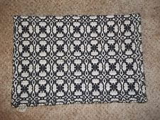 America Textile History Museum Black & White Woven Placemats 4 Lowell Ma.