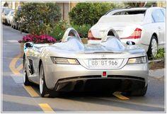 Kanye West Mercedes Kanye West Cannes Mercedes. 1.7mil dollar Mercedes McLaren SLR Sterling Moss at 2011 Cannes Film Festival