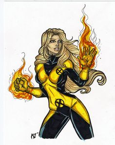 Another New Mutants pic of Magma. Ink and Marker.