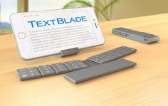 Tiny bluetooth keyboard that assembles into a single pocketable i.e., half the size of an iphone 4! Just Great!