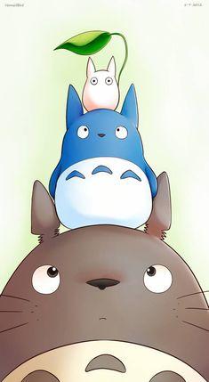 Totoro by Vermeilbird on DeviantArt Studio Ghibli Art, Studio Ghibli Movies, Japanese Characters, Cute Characters, Animes Wallpapers, Cute Wallpapers, Totoro Drawing, Personajes Studio Ghibli, Film Animation Japonais