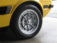 Campagnolo alloy wheel fitted to an early Fiat Jdm Wheels, Auto Wheels, Rims For Cars, Car Rims, Lotus Elan, Wheel Of Fortune, Alloy Wheel, Fiat, Custom Cars