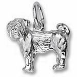 Rembrandt Charms Pug Charm - Gold Plated Rembrandt. $34.50