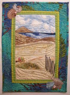"landscape quilt begunby Sally Gould Wright in Karen Eckmeier's class ""Accidental Landscapes"" at International Quilt Festival/ Long Beach in July 2009."