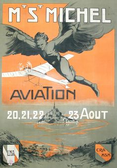 Jacquier, Marcel poster: Mt. St. Michel Aviation