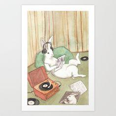 Vinyl Art Print by Bluedogrose - $20.00