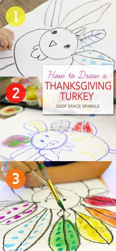 How to Draw & Paint a Thanksgiving Turkey   Deep Space Sparkle