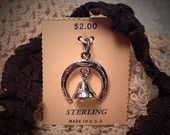 Vintage Sterling Silver Good Luck Horseshoe and Bell Pendant Charm on Original Card by Misinterpreted on Etsy