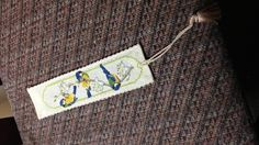 Textile Heritage design Bluetit Bookmark for my mother-in-law's birthday