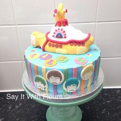 The Beatles Yellow Submarine cake.