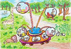 'My Dream Cars' by Qing Wen, Aged 9, China: 2nd Contest, Silver #KidsArt #ToyotaDreamCar