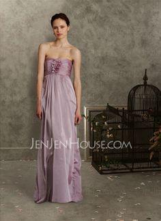 Bridesmaid Dresses - $119.99 - New Style A-Line/Princess Sweetheart Floor-Length Chiffon Charmeuse Bridesmaid Dress With Ruffle (007004145) http://jenjenhouse.com/pinterest-g4145