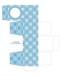 blue printable gift box