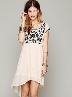 Free People Marina Embroidered Dress at Free People Clothing Boutique